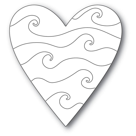 2169 Wavy Heart craft die