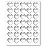 2284 Grid Heart Frame craft die