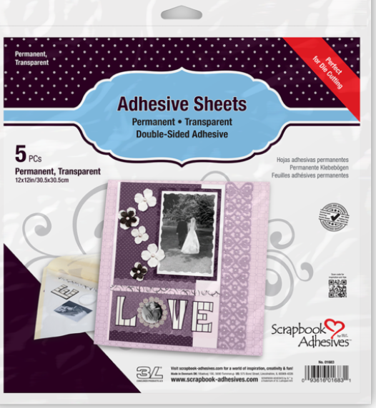 Adhesive Permanent Sheets 12x12 inch