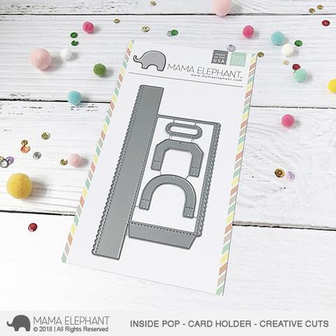 Mama Elephant Inside Pop Card Holder Creative Cuts