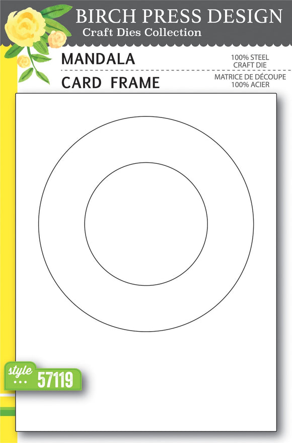 57119 Mandala Card Frame craft die