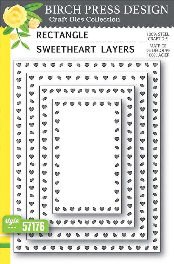 57176 Rectangle Sweetheart Layers craft die