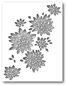99424 Chrysanthemum Collage craft die