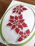 99849 Poinsettia Oval craft die
