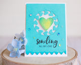 2004 Stitched Heart Borders craft die