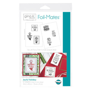 Foil-Mates™ Sentiments • Joyful Holiday