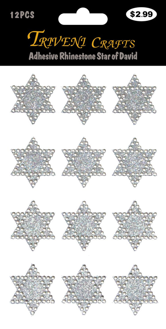 STIK-717 Adhesive Rhinestone Star of David