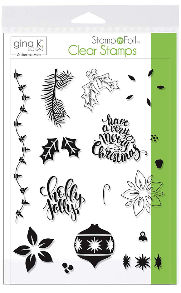 18119 StampnFoil Stamp Set, Holly Jolly