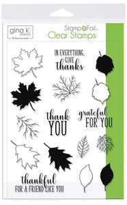 18106 StampnFoil™ Stamp Set • Thankful Leaves