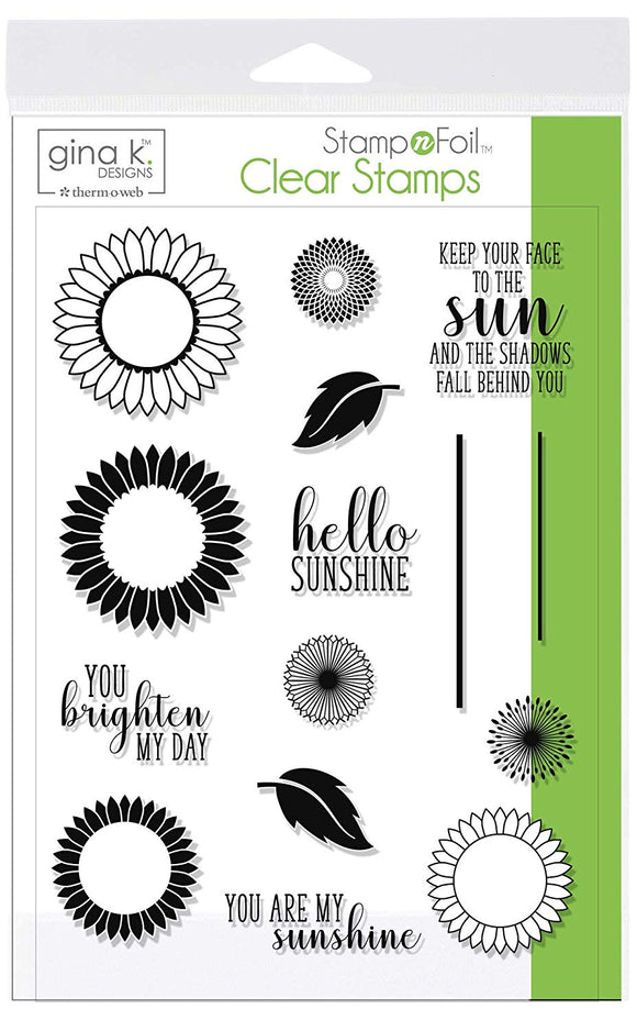 18105 StampnFoil™ Stamp Set • Graphic Sunflowers