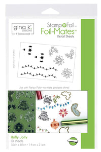 18117 StampnFoil Foil-Mates Detail Sheet, Holly Jolly