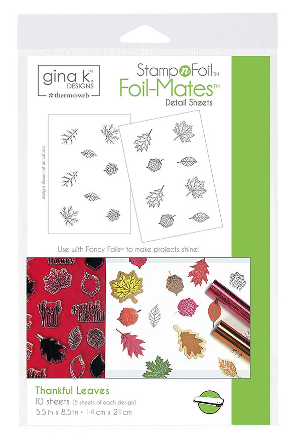 18104 StampnFoil™ Foil-Mates Detail Sheet • Thankful Leaves