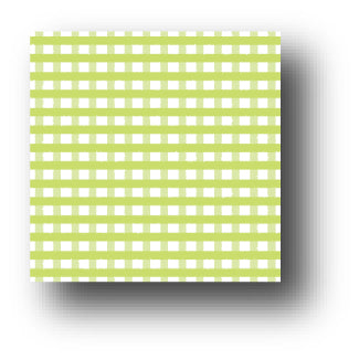 Key Lime Gingham Patterned Paper - 5 sheets Pack