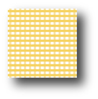 Squash Gingham Patterned Paper - 5 sheets Pack