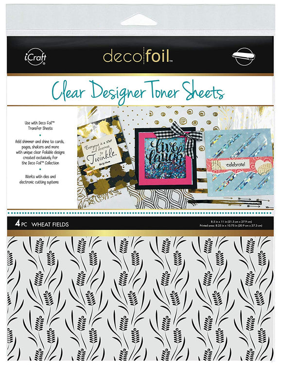 Deco Foil™ Clear Toner Sheets • Wheat Fields