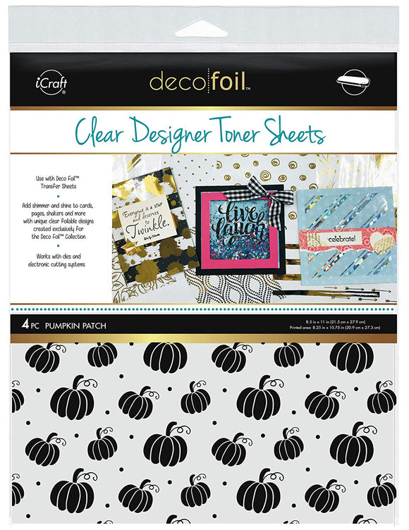 Deco Foil™ Clear Toner Sheets • Pumpkin Patch