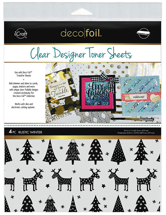 Deco Foil™ Clear Toner Sheets • Rustic Winte