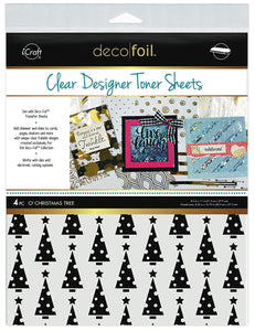 Deco Foil™ Clear Toner Sheets • O' Christmas Tree
