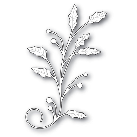 94023 Holly Flourish craft die