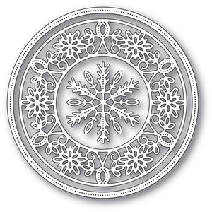 94030 Pinpoint Snowflake Circle craft die