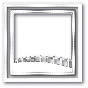 94034 Countryside Fence Frame craft die