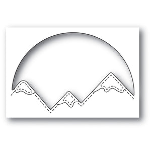 94047 Snowcapped Mountain Circle craft die