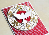 94084 Large Winged Dove craft die