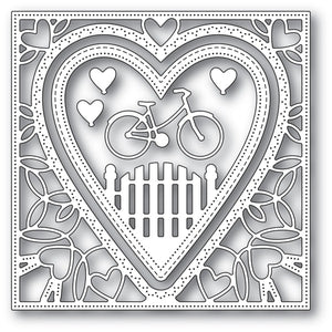 94102 Neighborhood Heart Frame craft die