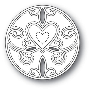 94111 Scroll Heart Circle craft die