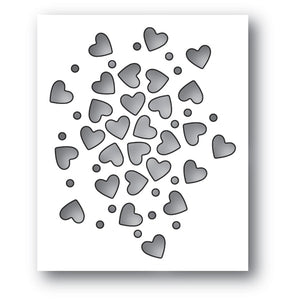 94112 Heart Sprinkles craft die