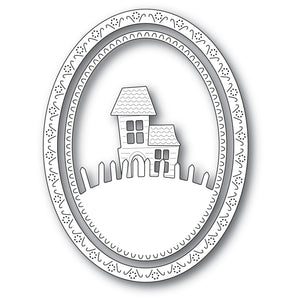94300 Haunted Hill Oval Frame craft die
