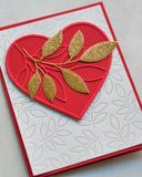 94379 Verdant Leaf Loving Heart craft die