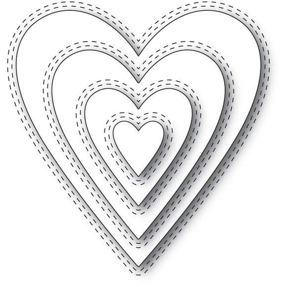 94361 Double Stitch Happy Heart Cut Out