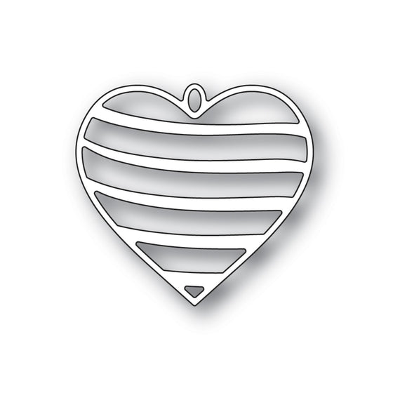 94367 Banded Heart Locket