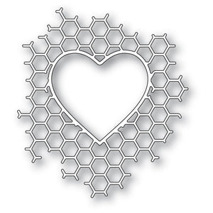 94378 Honeycomb Heart craft die