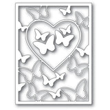 94386 Butterfly Heart Frame craft die