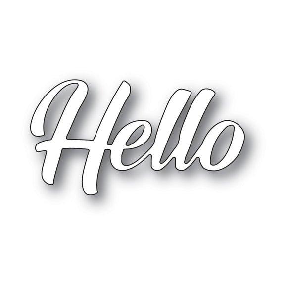 94392 Hello Banner Script craft die