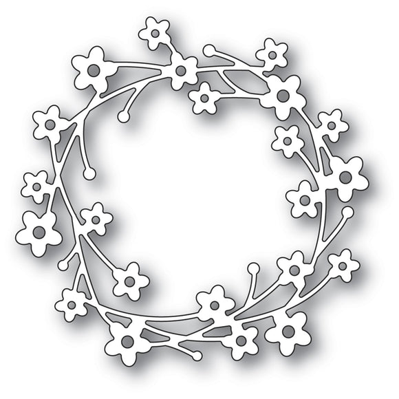 94429 Cherry Blossom Wreath craft die