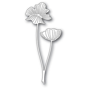 94442 Splendid Poppy Stems craft die