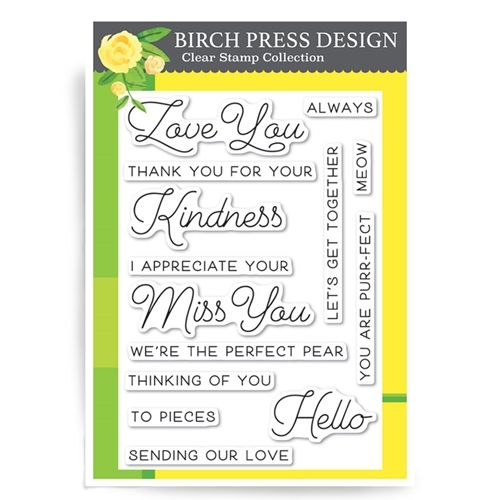 CL8123 Love and Miss You clear stamp set