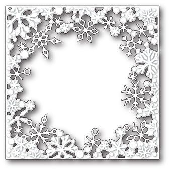 99582 Dancing Snowflake Square craft die