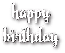99684 Happy Birthday Upright Script craft die