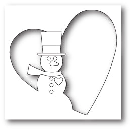 99801 Snowman Heart Collage craft die