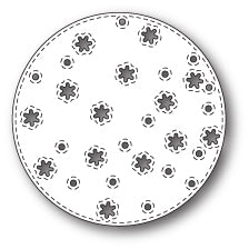 99807 Stitched Snowflake Circle craft die