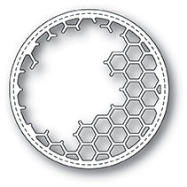 99923 Honeycomb Stitched Circle craft die