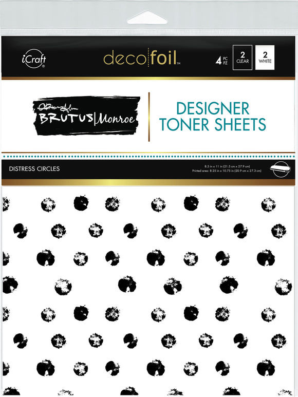 Designer Toner Sheets • Distress Circles