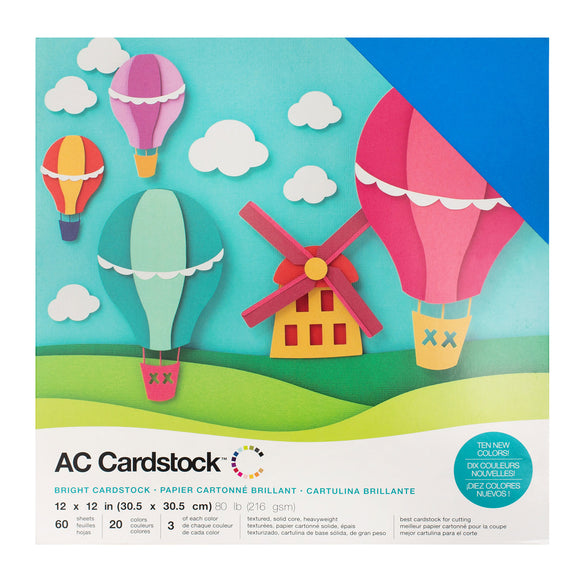 12 x 12 - CARDSTOCK PACK - Brights