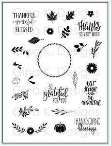 Autumn Wreath Builder Clear Stamps