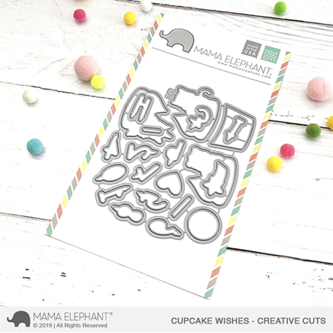 Mama Elephant Cupcake Wishes Creative Cuts