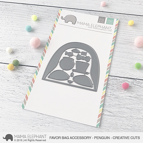 Mama Elephant Favor Bag Accessory Penguin Creative Cut